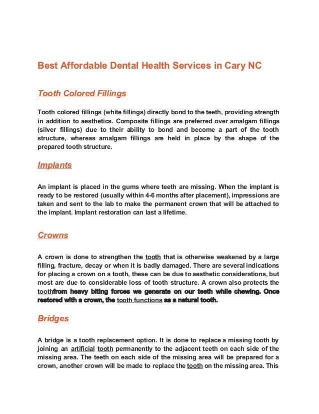 Services at Cary Dental Rejuvenation at CARY,NC