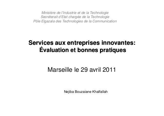 Ministère de l'Industrie et de la Technologie     Secréterait d'Etat chargée de la Technologie Pôle Elgazala des Technolog...