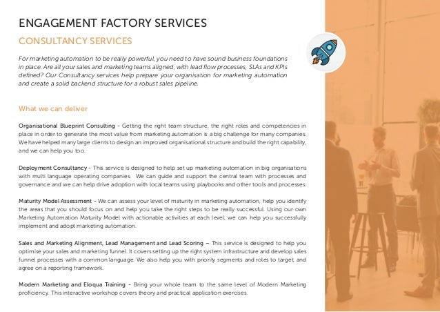 Engagement factory services 6 what we can deliver organisational blueprint consulting malvernweather