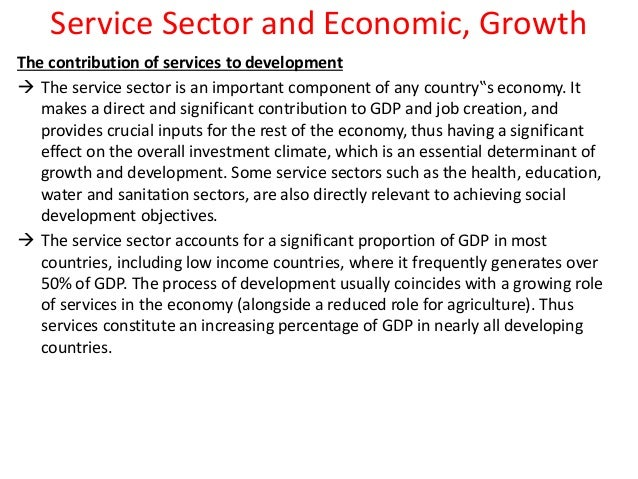 role of service sector in economy