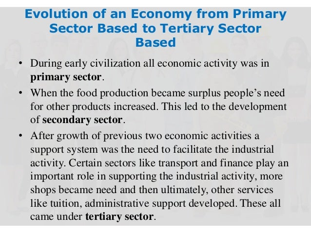 growth and decline in the primary secondary and tertiary sector