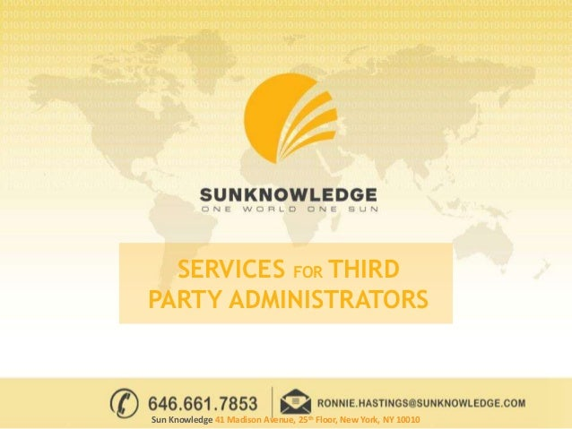 Third Party Administrators Services For Healthcare Insurance Providers