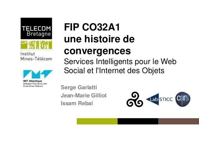 Institut Mines-Télécom FIP CO32A1 une histoire de convergences Services Intelligents pour le Web Social et l'Internet des ...