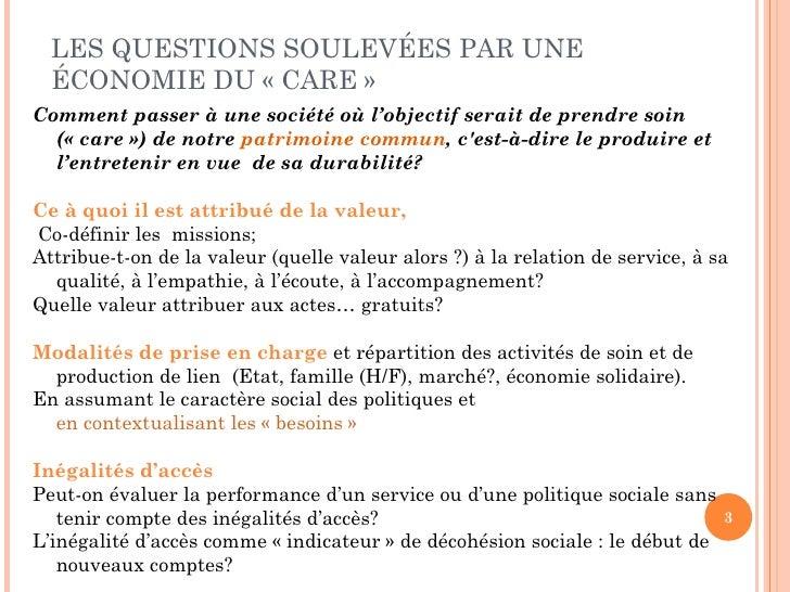 """Florence Jany-Catrice """"Services à la personne et indicateurs de bien être""""  Slide 3"""