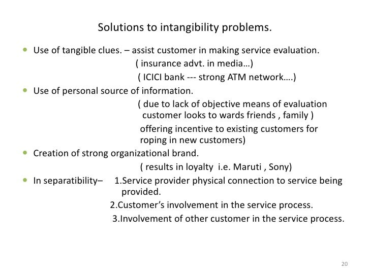 solutions for inseparability of services Discuss the marketing problems associated with inseparability and the possible solutions to solve experience centralized mass production of services is difficult suggested solutions to minimize the impact of inseparability include: services marketing short-answer essays nyskaping ved.