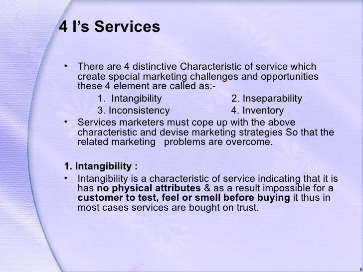 distinctive characteristics of services To present the nature and distinctive characteristics of services  12 nature of services customer's presence, varying demands and which cannot be stocks.