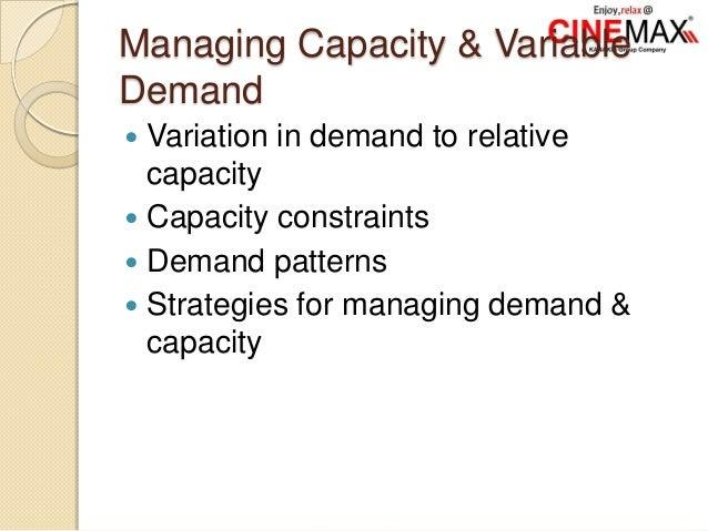 Managing Capacity & Variable Demand  Variation in demand to relative capacity  Capacity constraints  Demand patterns  ...