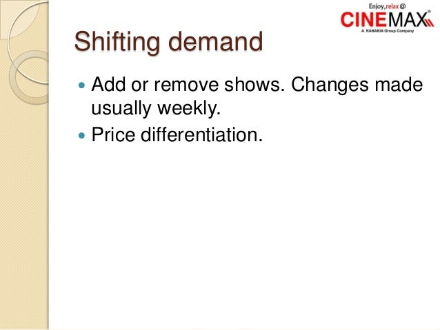 Shifting demand  Add or remove shows. Changes made usually weekly.  Price differentiation.