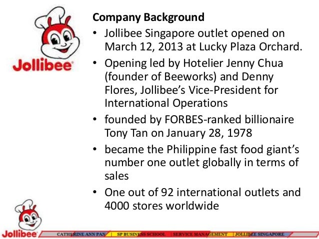 What Is the Background of the Jollibee Company?