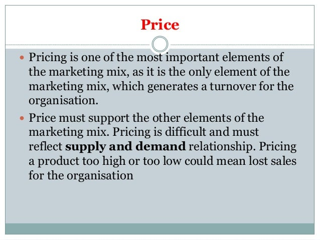 Services marketing mix product, price, place, promotion.