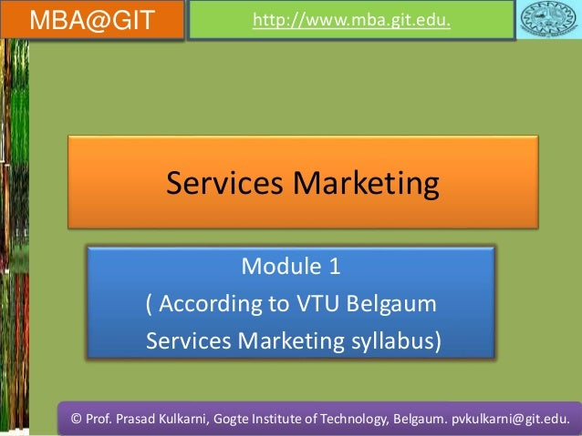 Services marketing module 1