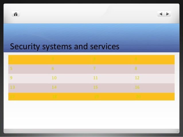 Security systems and services 1 2 3 4 5 6 7 8 9 10 11 12 13 14 15 16 17 18 19 20