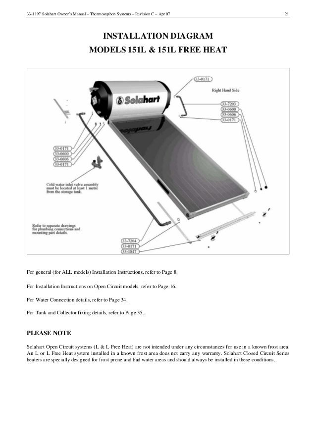 solahart hot water system manual