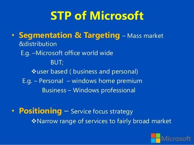 microsoft differentiation strategy