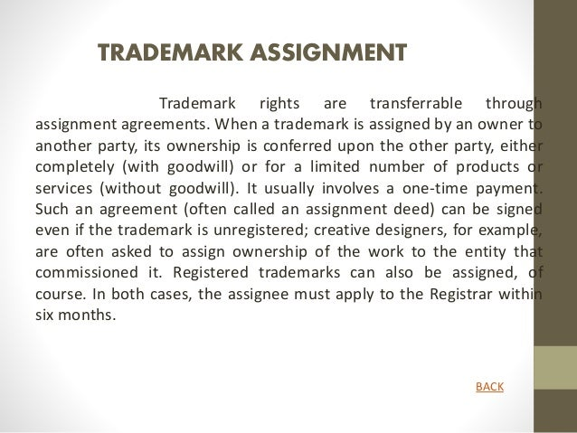Trademark Assignments. Startup RegistrationLegal  DocumentationCopyrightTrademark And Pate