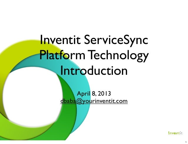 Inventit ServiceSync                                             Platform Technology                                      ...