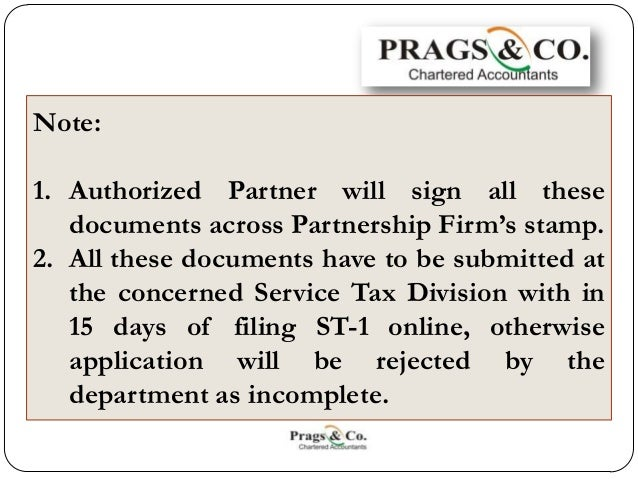 Service tax registration documents required by partnership firm 6 spiritdancerdesigns Choice Image