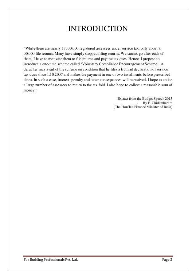 Service tax voluntary compliance encouragement scheme, 2013.