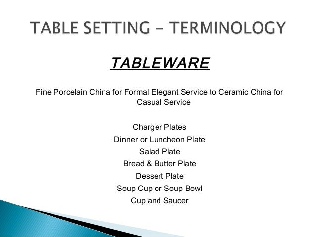 ... Stemware; 15.  sc 1 st  SlideShare & Service types