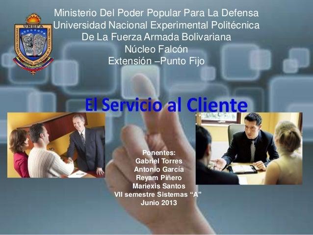 Ministerio Del Poder Popular Para La DefensaUniversidad Nacional Experimental PolitécnicaDe La Fuerza Armada BolivarianaNú...