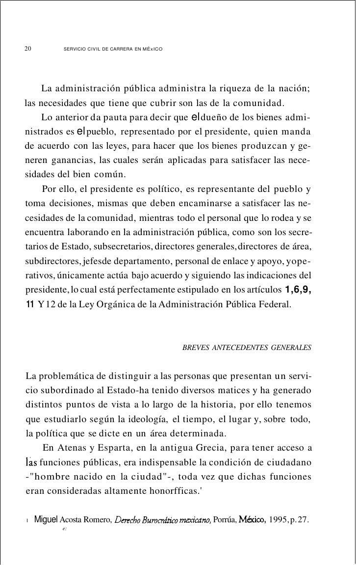 24       SERVICIO CiVIL DE CARRERA EN MÉXICOrazones de su seguridad o por motivos de interés de la vida pública,no pueden ...
