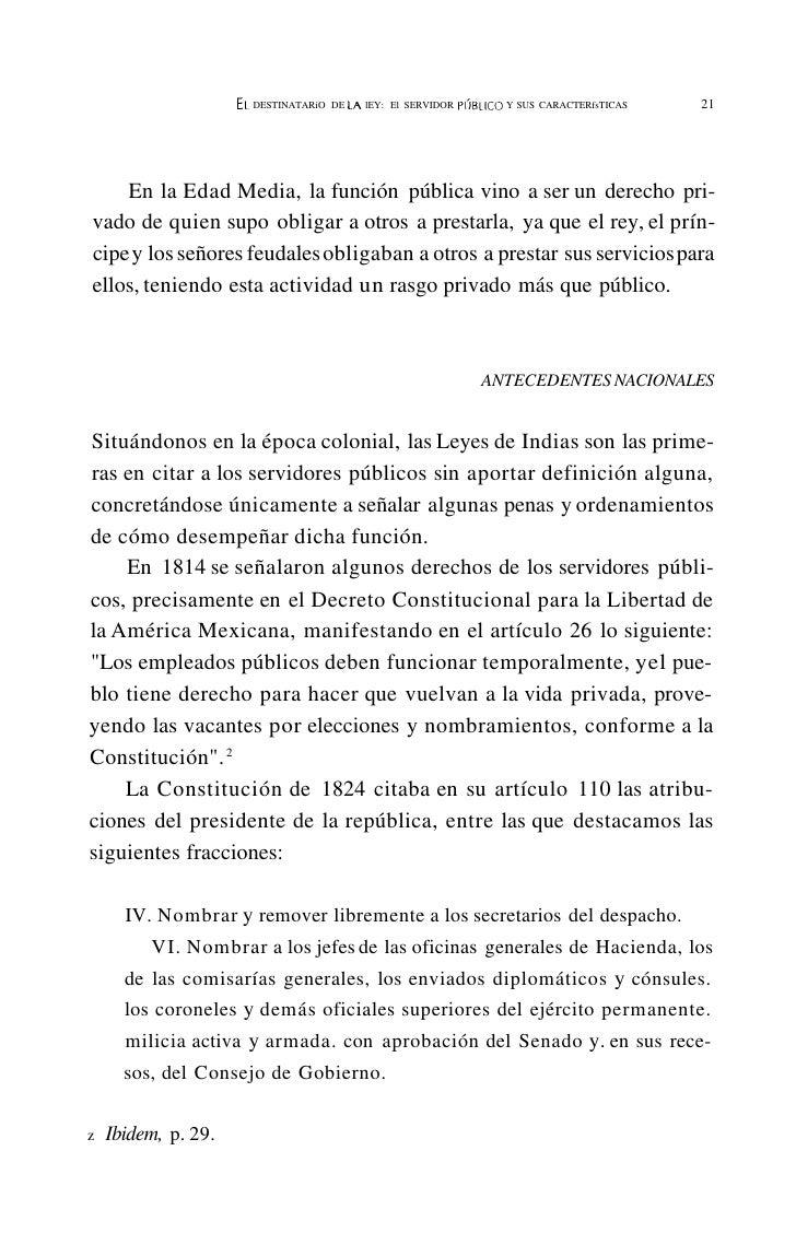 EL   DESTINATARIO DE· LA LEY: EL SERVIDOR PlJBlICO Y SUS CARACHRlsTICAS        25      e) Instituto Nacional de Salud;    ...