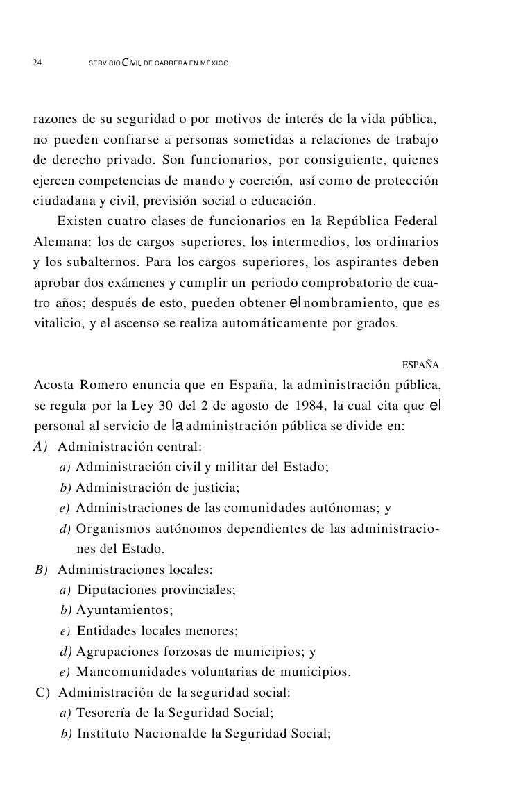 28         SERVICIO Crvu DE CARRERA EN MÉxICO                                                      FUNCIONARIO PÚBLICOEl t...