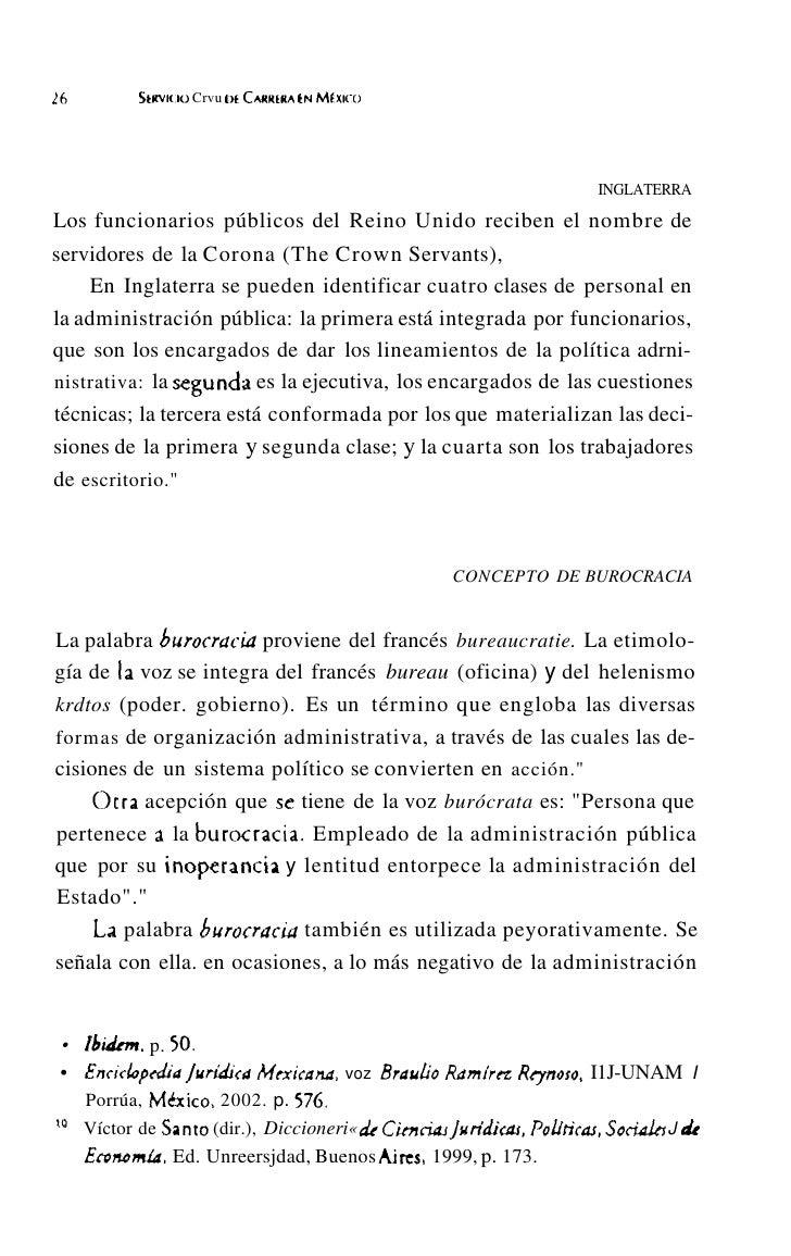 30         SERVICIO Civu DE CARRERAEN MtxlcO     cambio los agentes obran acomodándose en sus funciones a los go-     bern...