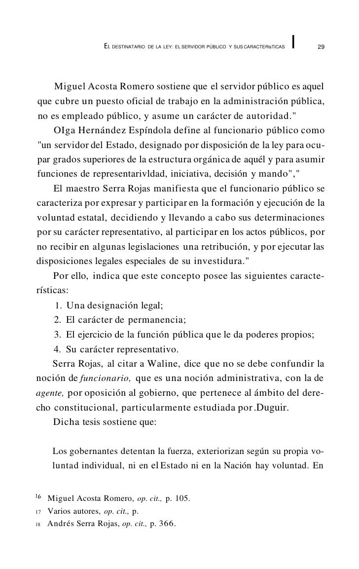 EL DESTINATARIO   DE LA LEY: EL SERVIDOR PÚBLICO Y SUS CARACTERlsTICAS   I   33 Seguridad y Servicios Sociales de los Trab...
