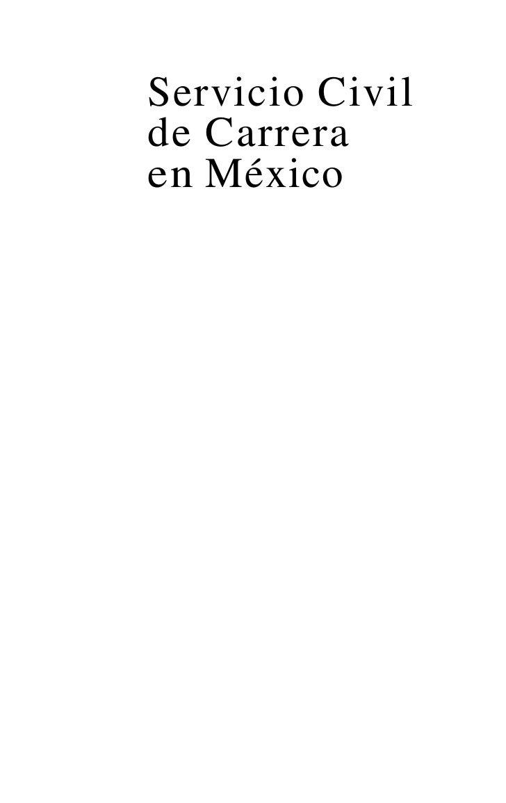 Servicio Civilde Carreraen México           Javier SalinasNarváez            Eliseo Rosales Avalos                  (Coord...
