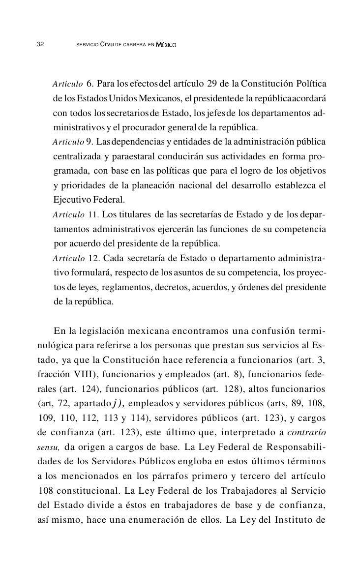 36           SERVICIO   Crvu DE CARRERA EN MÉxICO                                                     CARCO PÚBLICOPor últ...