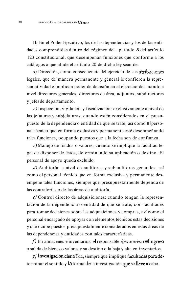 42         SERVICIO CIVil DE CARRERA EN MÉxICODE BUEN L., Néstor: Derecho del Trabajo, Porrúa, tomo 1, México     1989 7•D...
