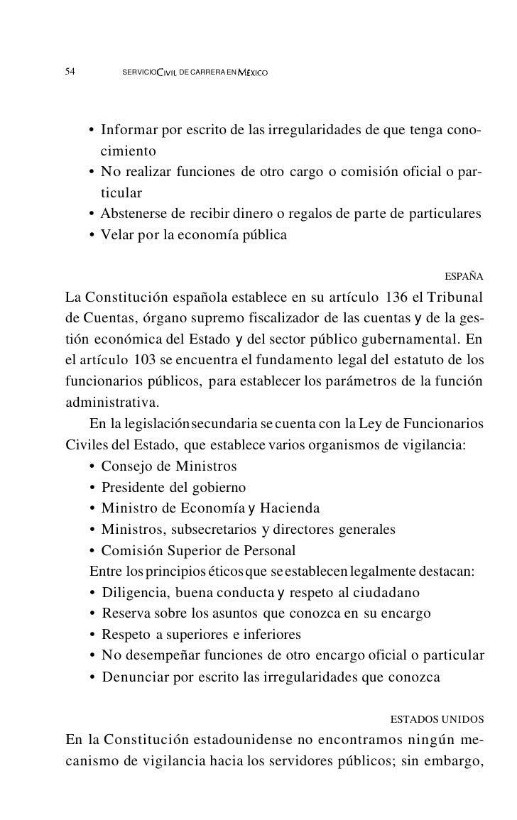 58           SERVICIO CIVil DE CARRERA EN M~xlcO       humana y los derechos fundamentales de las personas, la pluralidad ...