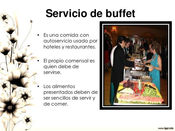 Servicio de comedor for Tipos de servicios de un hotel