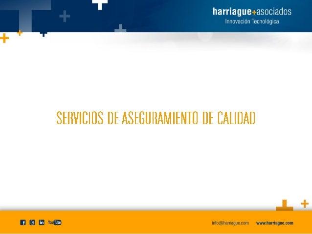 Servicio de QA - Harriague y Asociados Slide 2
