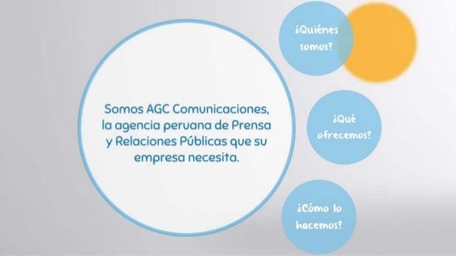 Servicio de relaciones publicas - AGC  Comunicaciones Slide 2