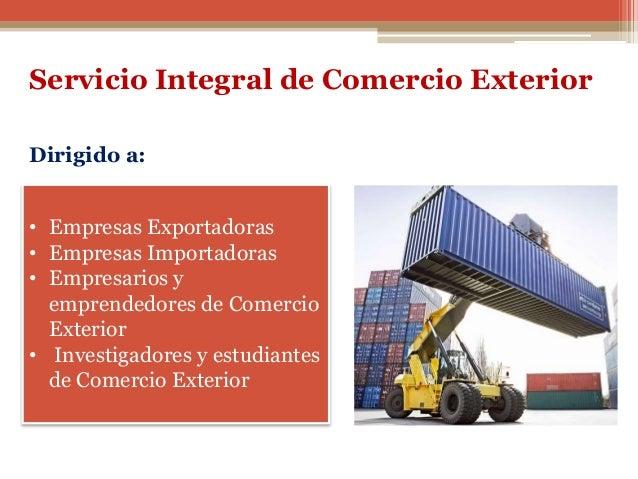 Servicio integral comercio exterior for De comercio exterior