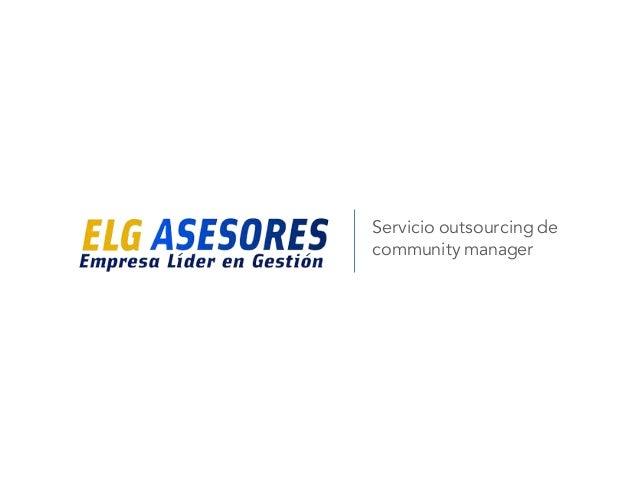 Servicio outsourcing de community manager