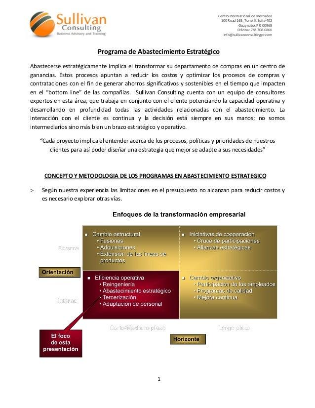 Centro Internacional de Mercadeo 100 Road 165, Torre II, Suite 402 Guaynabo, PR 00968 Oficina: 787.708.6800 info@sullivanc...
