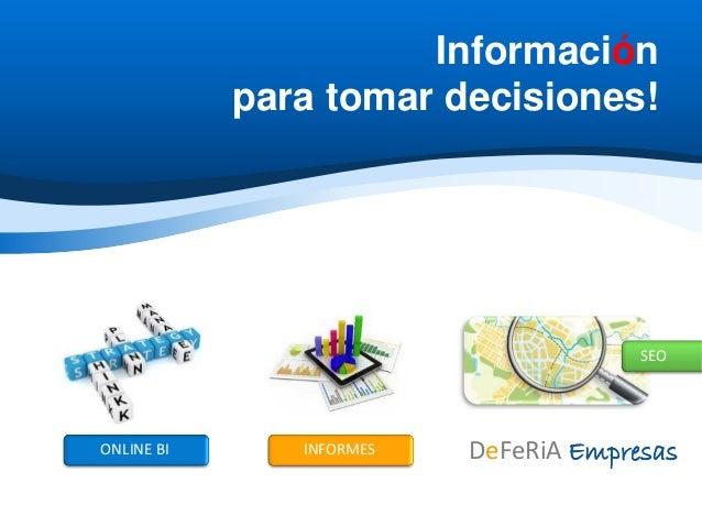 Online Business Intelligence - Consultoría Estratégica para Empresas