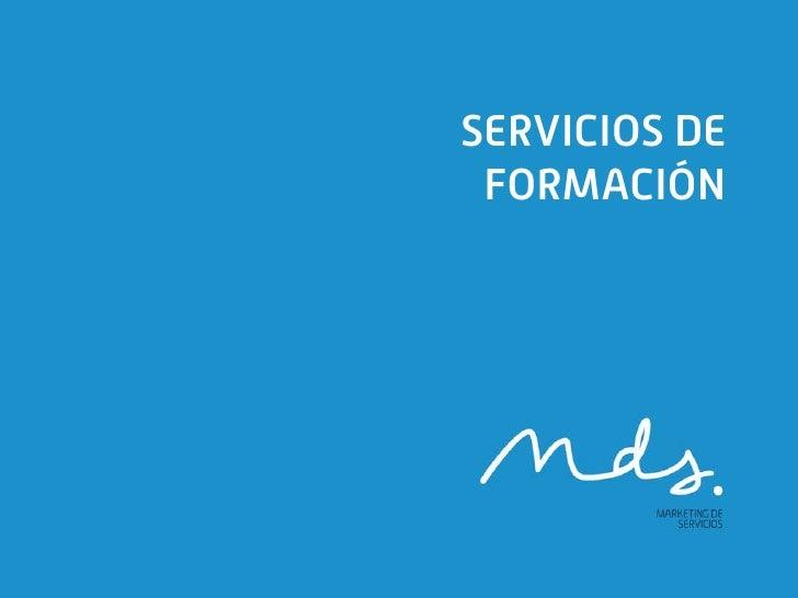 SERVICIOS DE FORMACIÓN