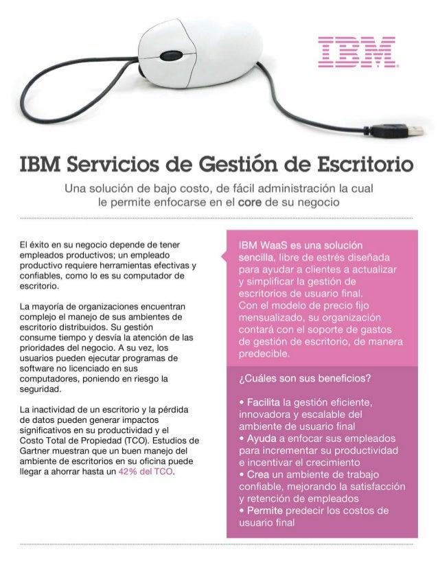 IBM Servicios de Gestión de Escritorio