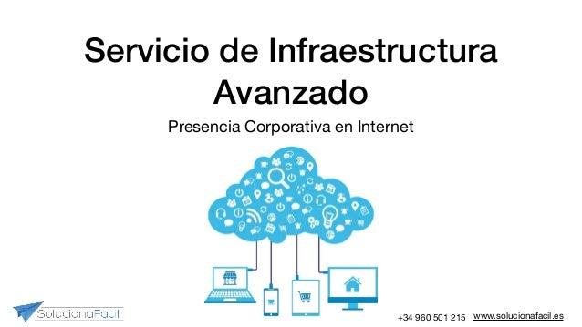 www.solucionafacil.es+34 960 501 215 Servicio de Infraestructura Avanzado Presencia Corporativa en Internet