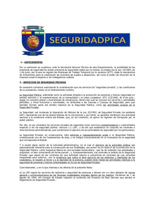 Servicios de seguridad y empresas de trabajo temporal - Oficina de trabajo temporal ...