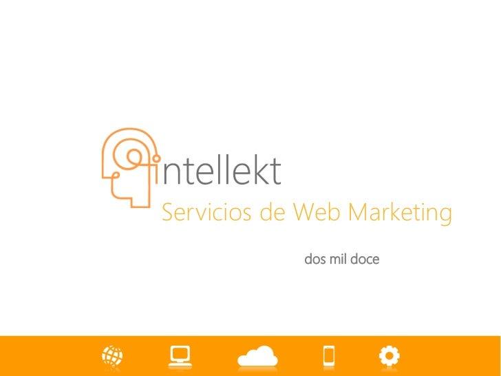 Servicios de Web Marketing            dos mil doce