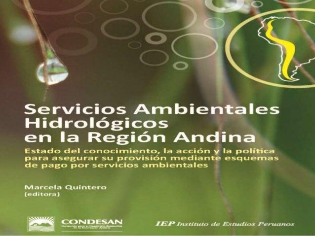 Servicios Hidrológicos en la Región Andina MarcelaQuintero
