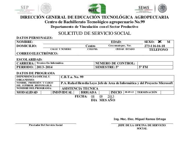 DIRECCIÓN GENERAL DE EDUCACIÓN TECNOLÓGICA AGROPECUARIA Centro de Bachillerato Tecnológico agropecuario No.99 Departamento...