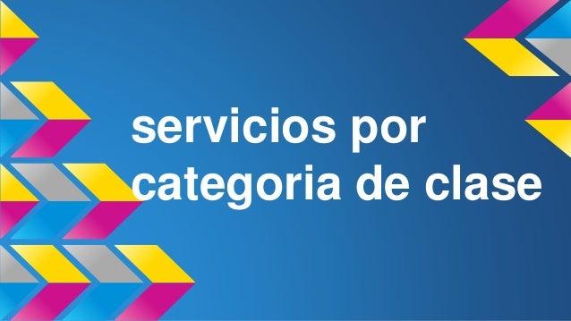servicios por categoria de clase