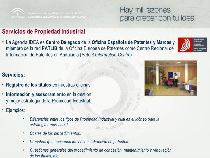 Servicios tecnologicos agencia idea - Oficina europea de patentes y marcas alicante ...