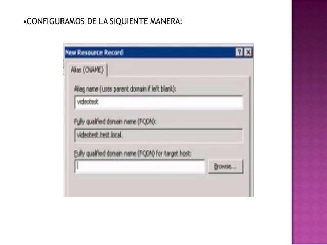 •CONFIGURAMOS DE LA SIQUIENTE MANERA: